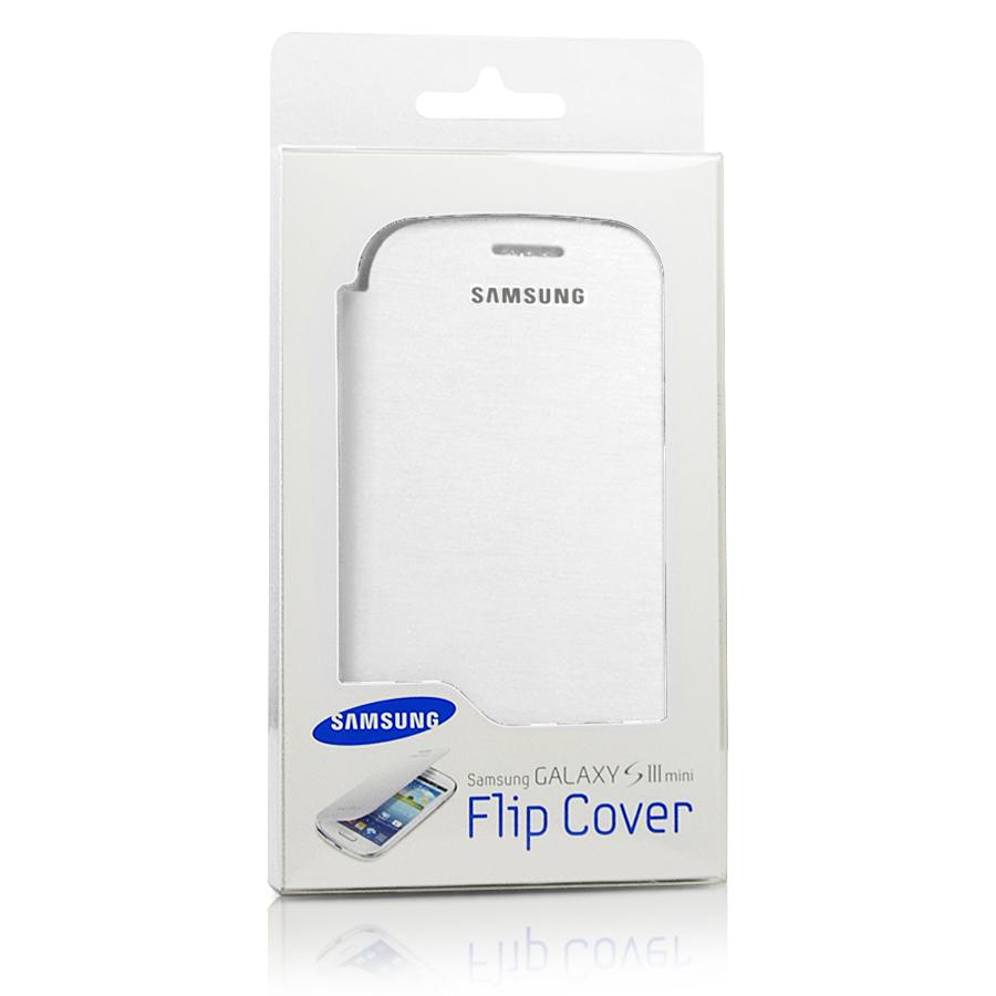 Genuine Samsung Galaxy S3 Mini Leather Flip Case EFC 1M7FWEC   Marble