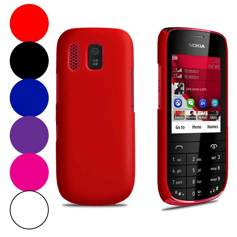Hybrid Hard Case Cover For Nokia Asha 203 + Screen