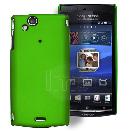 Green Hybrid Hard Case Cover For Sony Ericsson Xperia Arc S + Screen ...