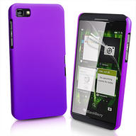 Purple Hybrid Hard Case Cover for BlackBerry Z10 BB 10 + Screen Protector