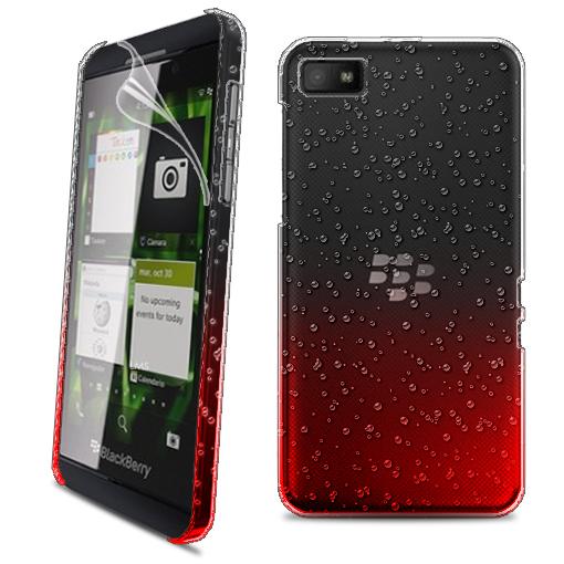 ... 3D RAIN DROP DESIGN HARD CASE COVER for BlackBerry Z10 BB 10 + Film