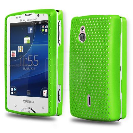 Mesh Tasche für Sony Ericsson Xperia Mini Pro grün