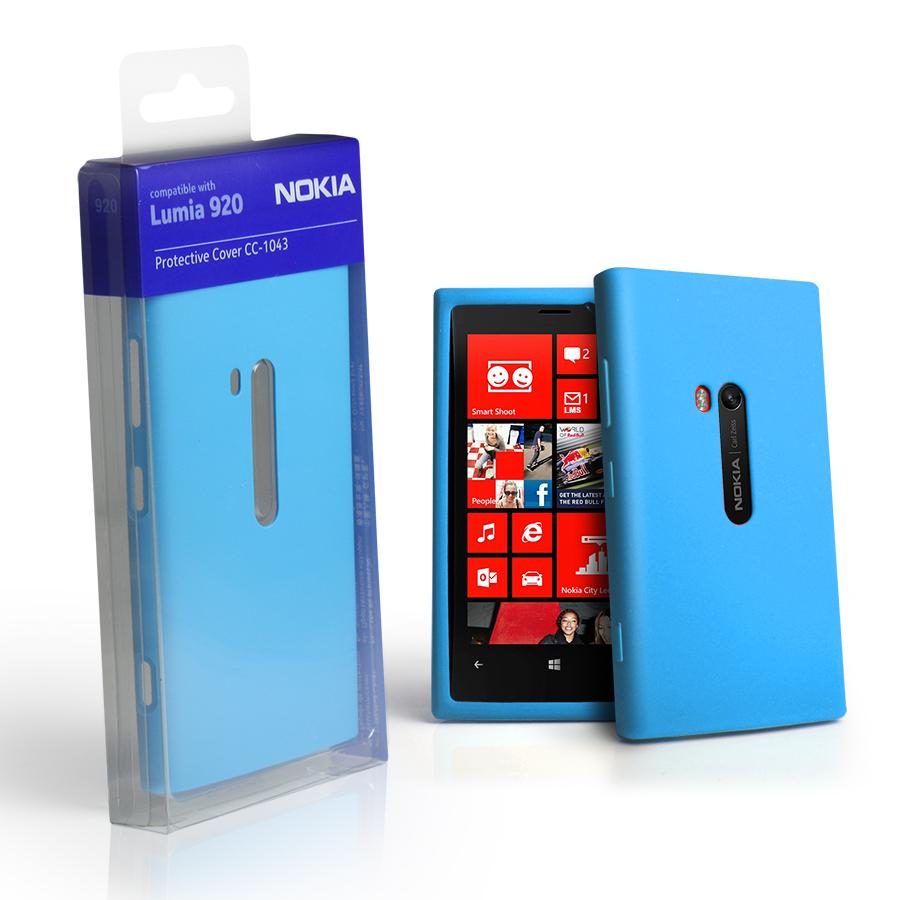Magic Store - Genuine Nokia CC-1043 Silicone Case for Lumia 920 - Cyan