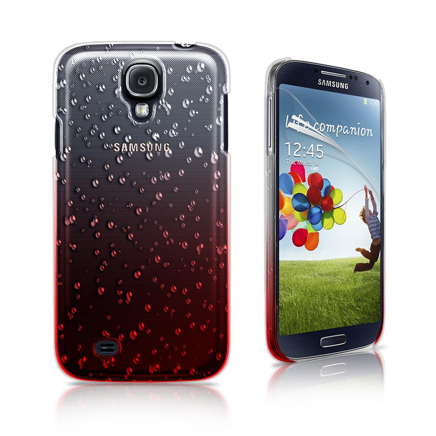red 3d rain drop design hard case cover for samsung galaxy