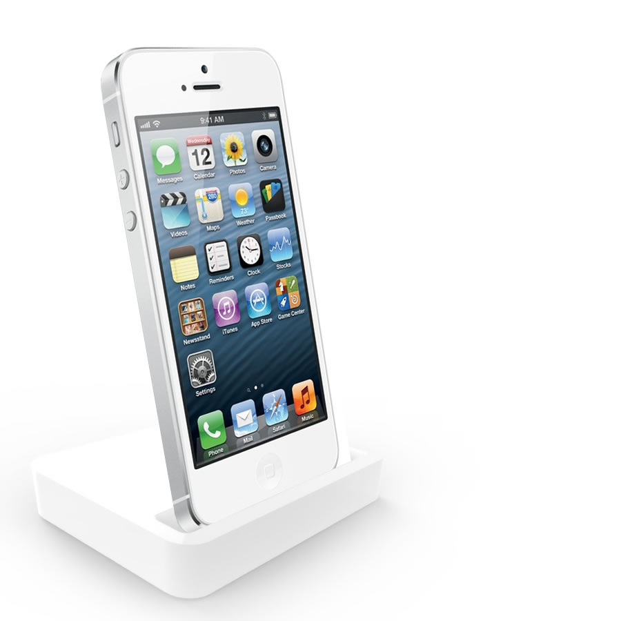 charging dock desktop stand docking station for apple iphone 5 5c 5g white ebay. Black Bedroom Furniture Sets. Home Design Ideas