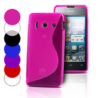 S Line Wave Gel Case Cover For Huawei Ascend Y300+ Screen Protector