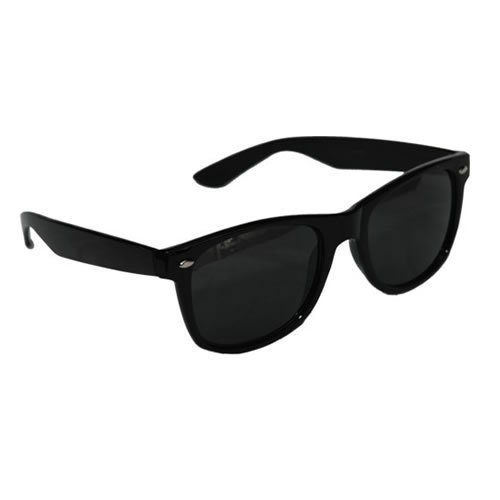 BLACK WAYFARER SUNGLASSES UNISEX UV400 AVIATOR NEW **WORLDWIDE SHIPPING**