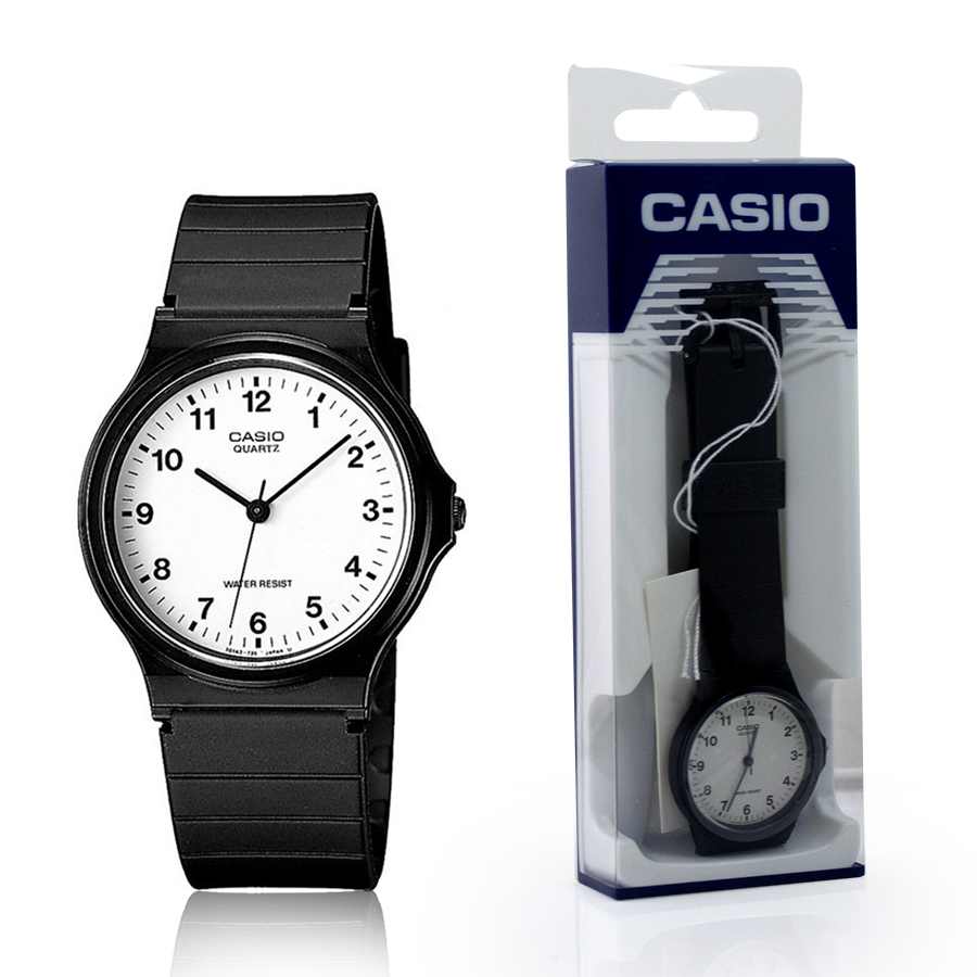 Genuine Casio MQ-24-7BLL MQ-24 Classic Analogue Retro Mens Watch Resin Enlarged Preview