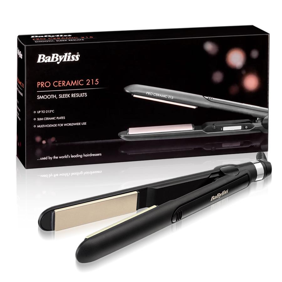 BaByliss 2039U Pro Ceramic Hair Straighteners 215 Degrees Slim Floating Plates | eBay