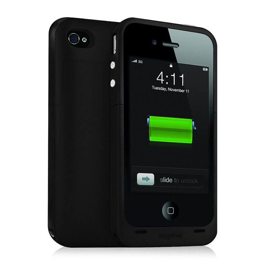 Mophie Juice Pack Plus-Fall 2000 mAh und Rechargable Batterie für iPhone 4/4S Enlarged Preview