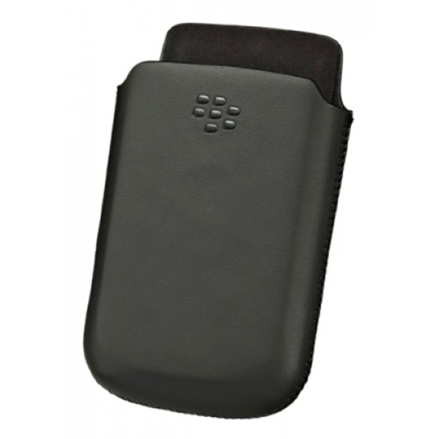 GENUINE BLACKBERRY TORCH 9800/9810 ACC-32836-201 LEATHER POCKET POUCH CASE BLACK Enlarged Preview