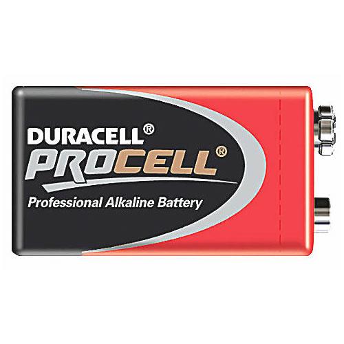 10 Duracell 9V Procell Batteries MN1604 6LR61 PP3 block