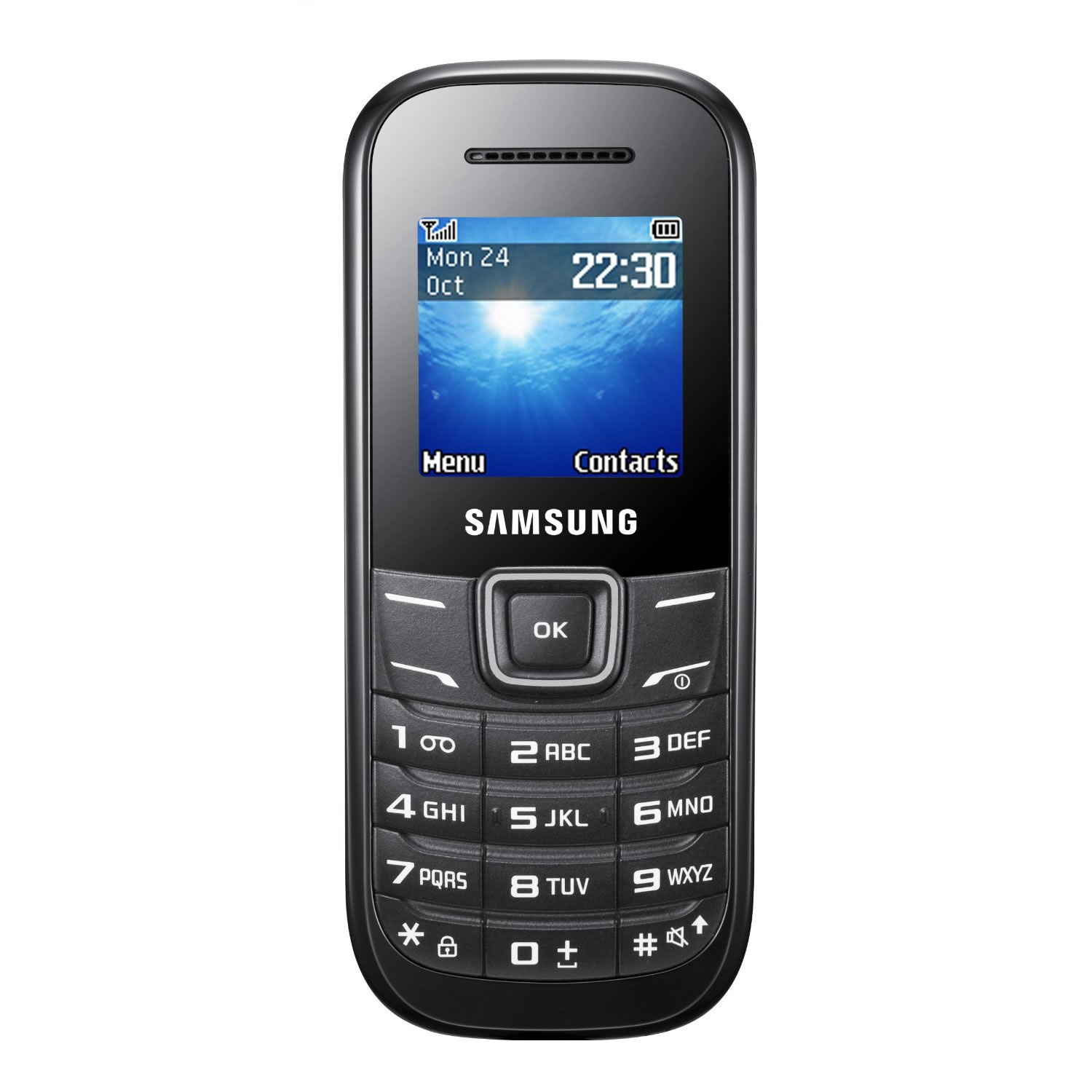 samsung e1200 black mobile phone unlocked sim free cheap. Black Bedroom Furniture Sets. Home Design Ideas