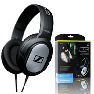 SENNHEISER HD201 DJ CLOSED STEREO DYNAMIC OVER EAR HEADPHONES MP3 IPOD IPHONE