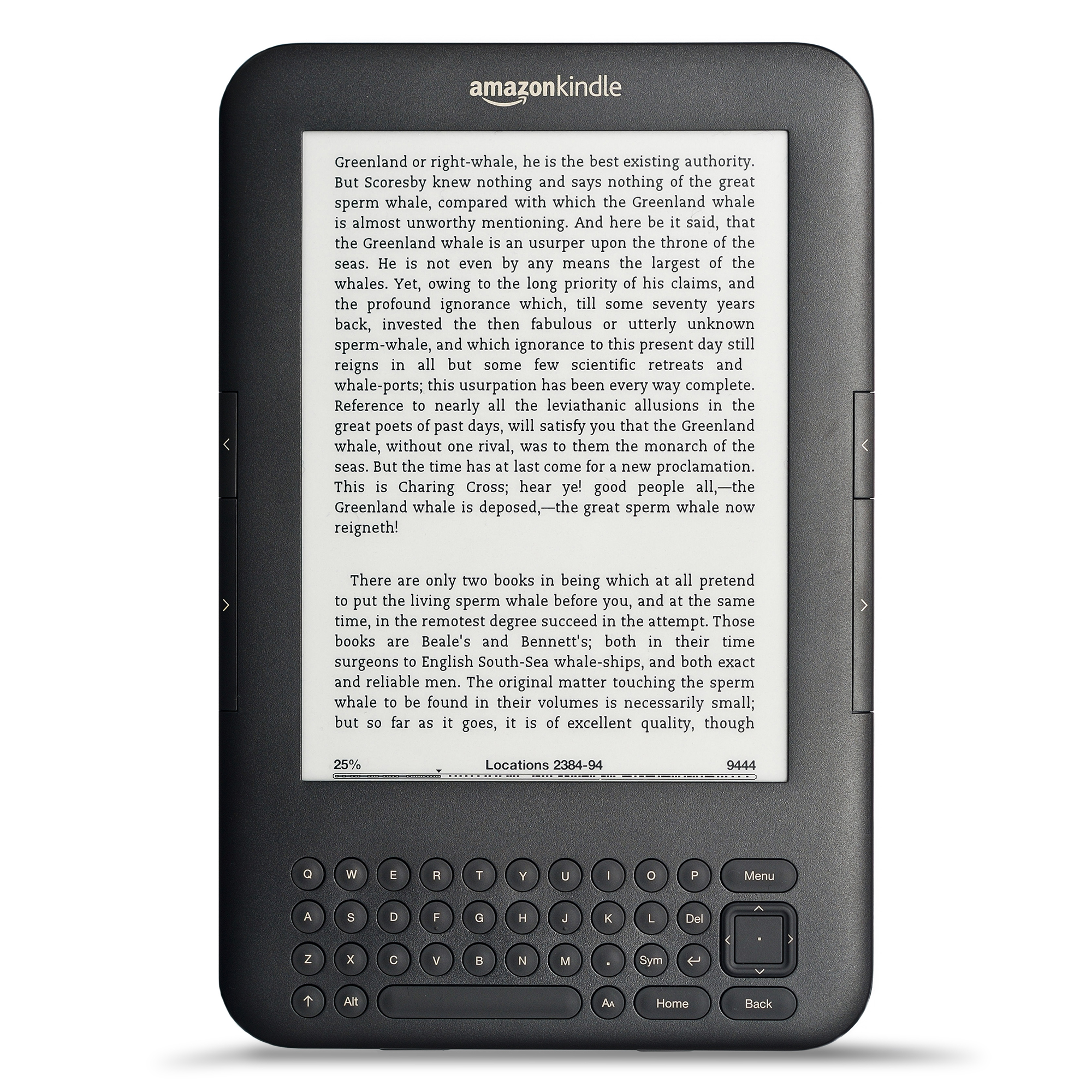 AMAZON KINDLE KEYBOARD E-READER FREE 3G + WI-FI 6