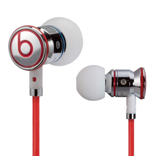 New Monster Beats by Dr Dre iBeats In Ear Headphones Earphones Chrome Enlarged Preview
