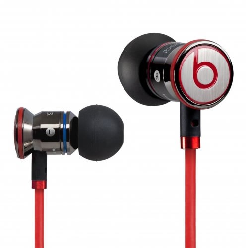 New Monster Beats by Dr Dre iBeats In Ear Headphones Earphones Black Enlarged Preview