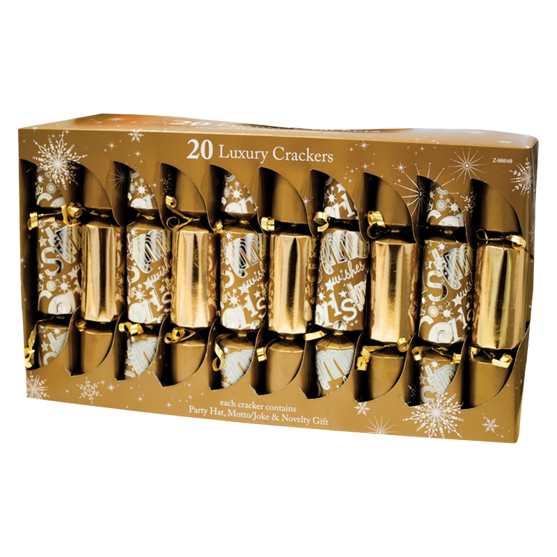 20 gold premum qualit t chic christmas crackers weihnachten familie cracker ebay. Black Bedroom Furniture Sets. Home Design Ideas