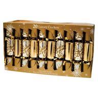 20 Gold Premum Quality Chic Luxury Christmas Crackers Xmas Family Cracker 20LXRYXMAS-GOLDCKRS