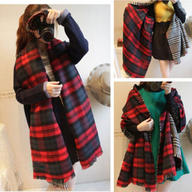 Lady Neck Warm Tartan Check Plaid Scottish Reversible Shawl Scarf Wrap Stole TARTANSCARFREV