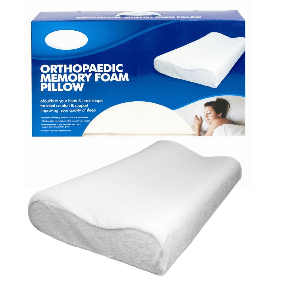 contour memory foam pillows set firm pair head neck back support pain relief ebay. Black Bedroom Furniture Sets. Home Design Ideas