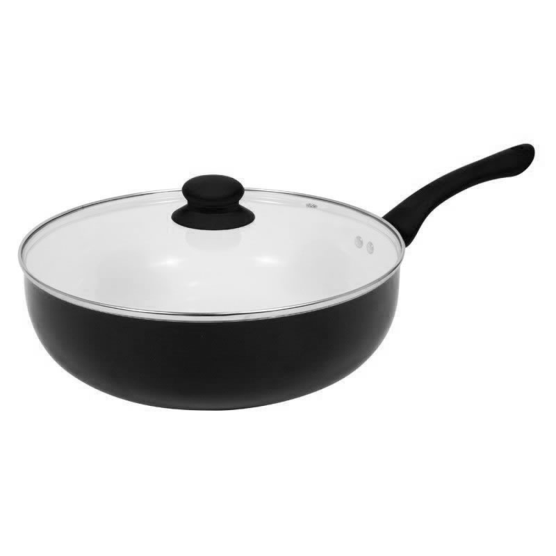 New Black Ceramic Non Stick Coating Deep Frying Pan With