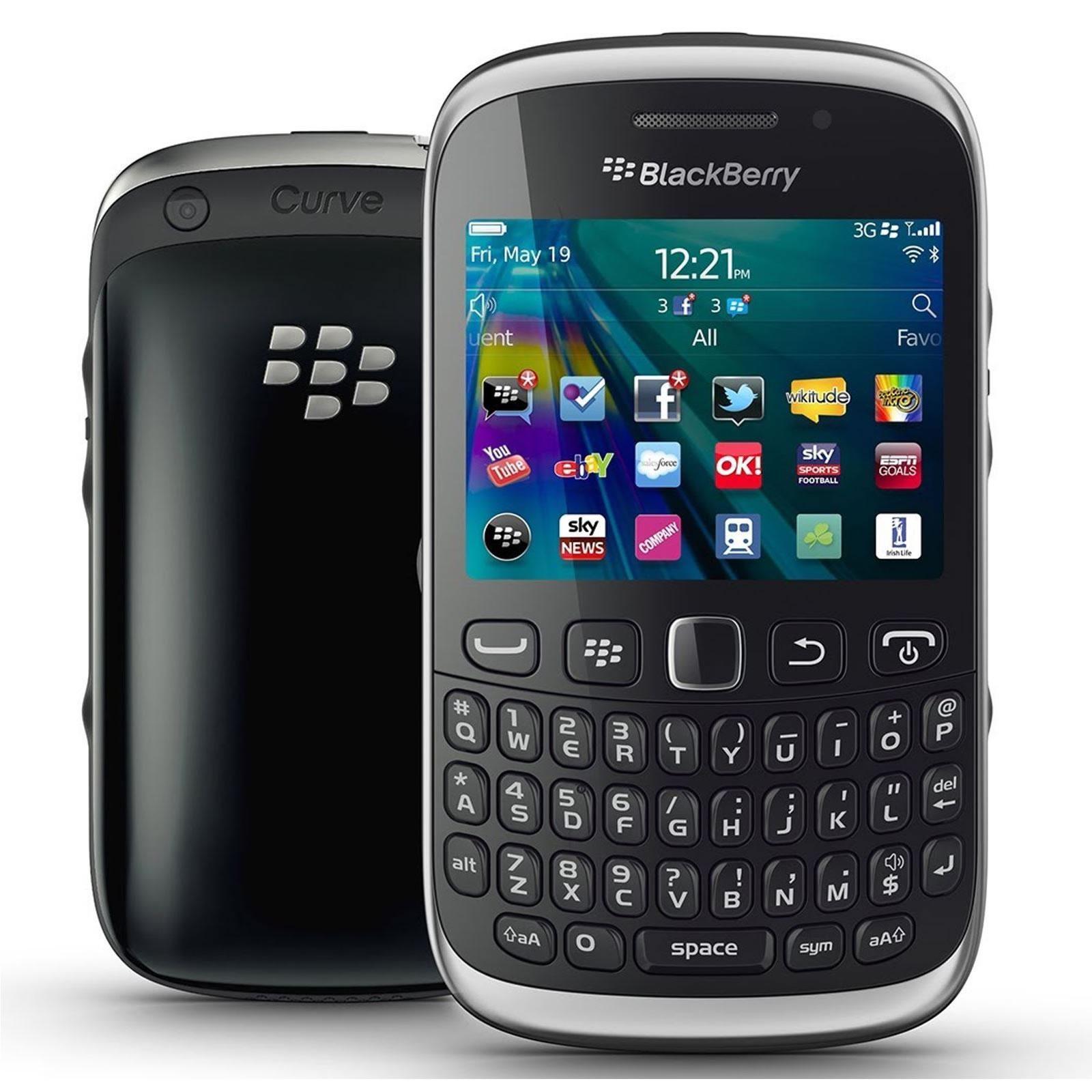 Blackberry Curve 9320 Black Unlocked Smartphone Mobile