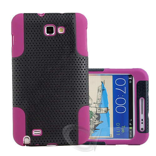 Mesh-Silicone-Case-with-Screen-Protector-for-Samsung-Galaxy-Note-i9220-N7000