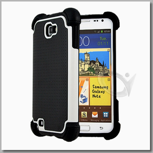 Triple Defender Premium Grip Case For Samsung Galaxy Note i9220 + Screen Protector