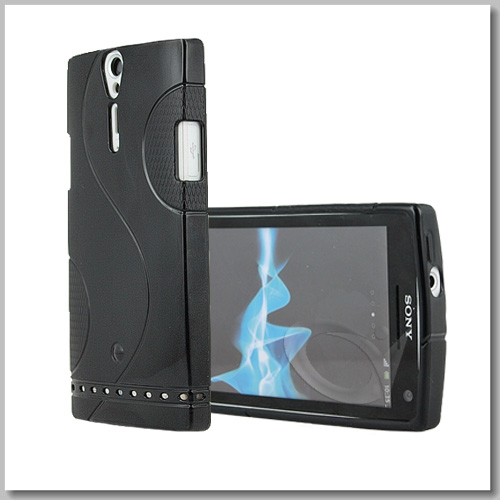 GRIP S LINE SERIES CASE COVER FOR SONY XPERIA S LT26i + SCREEN PROTECTOR