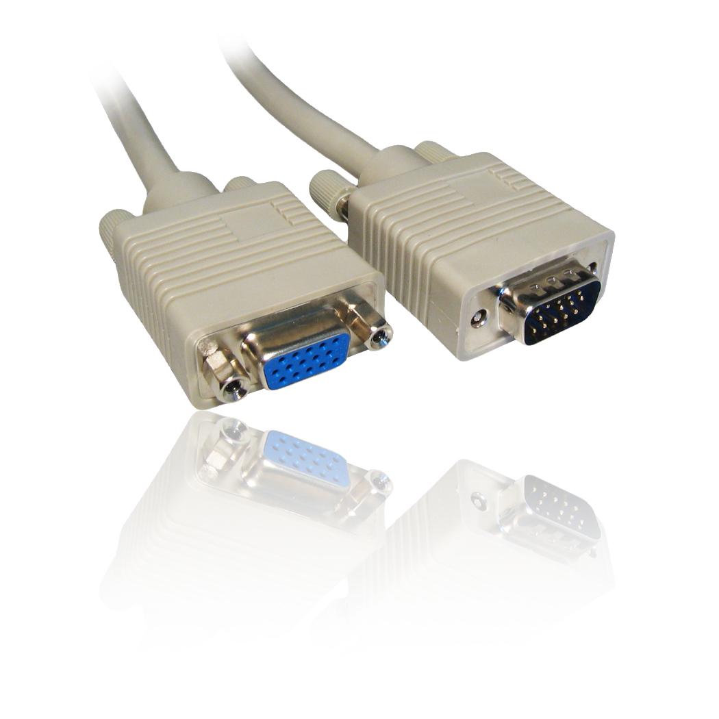 15m Svga  Vga Monitor Extension Pc Screen Tft Cable Lead