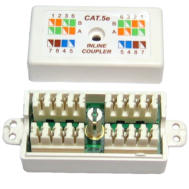 cat 5e cat5 punchdown ethernet network cable coupler. Black Bedroom Furniture Sets. Home Design Ideas