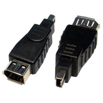 Firewire 6 pin Female to 4 Pin Male 6Pin-4Pin Cable Lead Wire Adaptor Converter