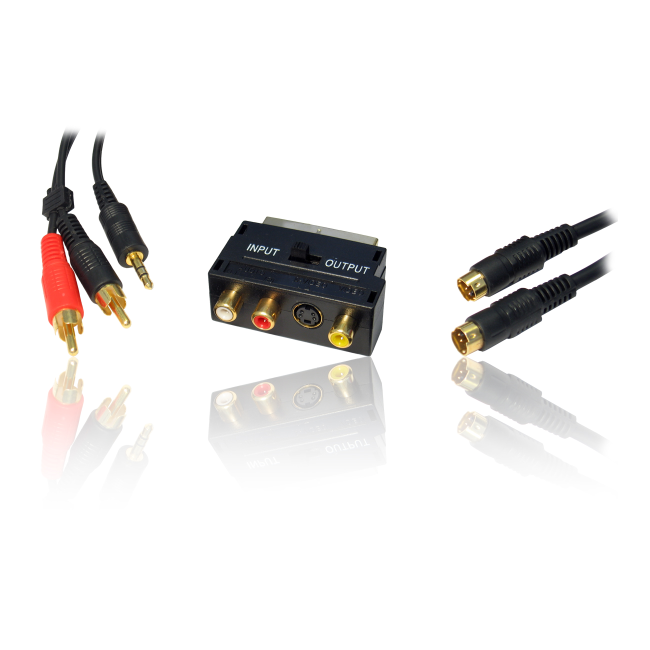 Pc To Tv Connection Kit 10m Scart Adapter Rca Phono To