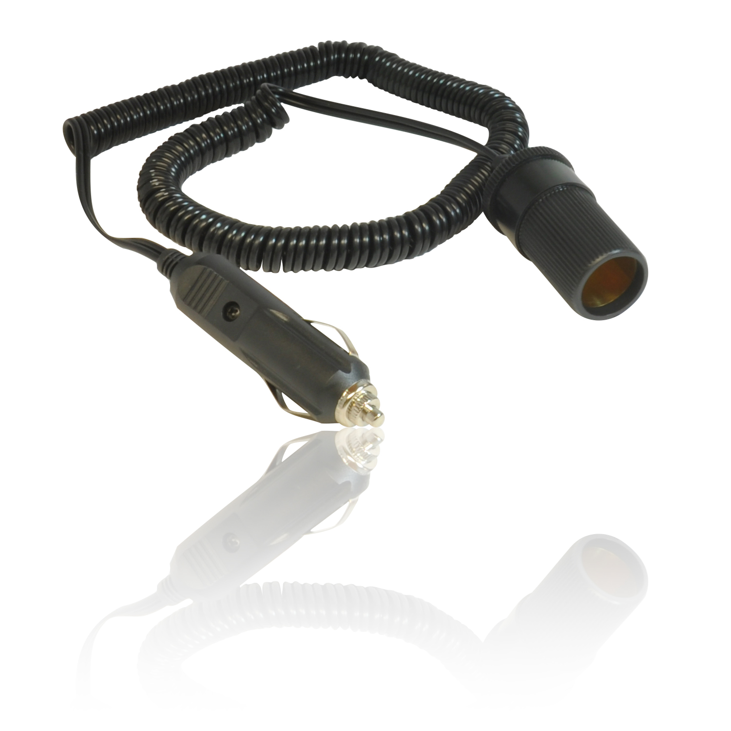 Coil Extension Lead : Cm coiled m stretched v car cigarette lighter power