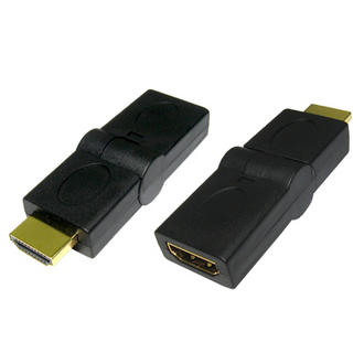 HDMI Female to Male Swivel Cable Lead Wire Adapter Connector Convertor Joiner