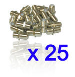 25 X F Type Connector Satellite Cable F-F Female Coupler Joiner Gender Changer