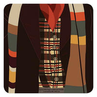 Doctor Who Fourth Doctor Single Coaster