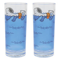 Snoopy Swimming Set Of 2 Glasses