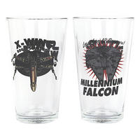Star Wars Spacecraft Set of 2 Glasses