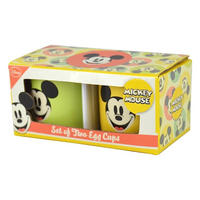 Set of 2 Mickey Mouse Face Ceramic Egg Cups