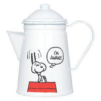 "Peanuts ""I'm Awake"" Enamel Coffee Pot"