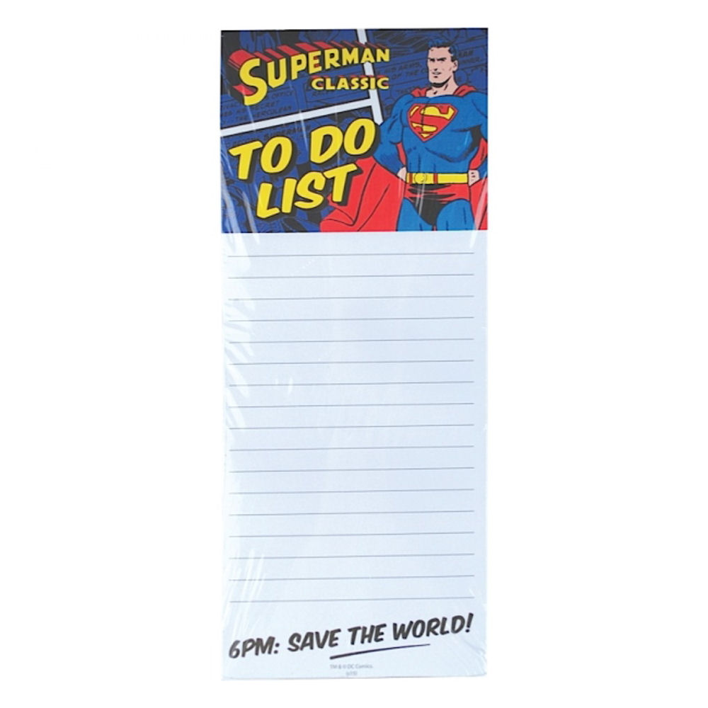 Superman 6pm: Save The World Magnetic Memo Pad