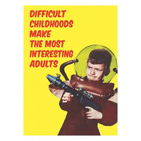 Difficult Childhoods Fridge Magnet