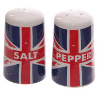 Distressed Union Jack Ceramic Salt & Pepper Pots
