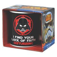 "Darth Vader ""I Find Your Lack Of Faith Disturbing"" Mug"