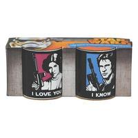 Princess Leia & Hans Solo Set Of 2 Mini Mugs