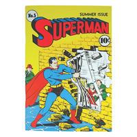 Superman Comic Style Paperback Notebook