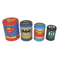 Justice League Boxed Set of 4 Canisters