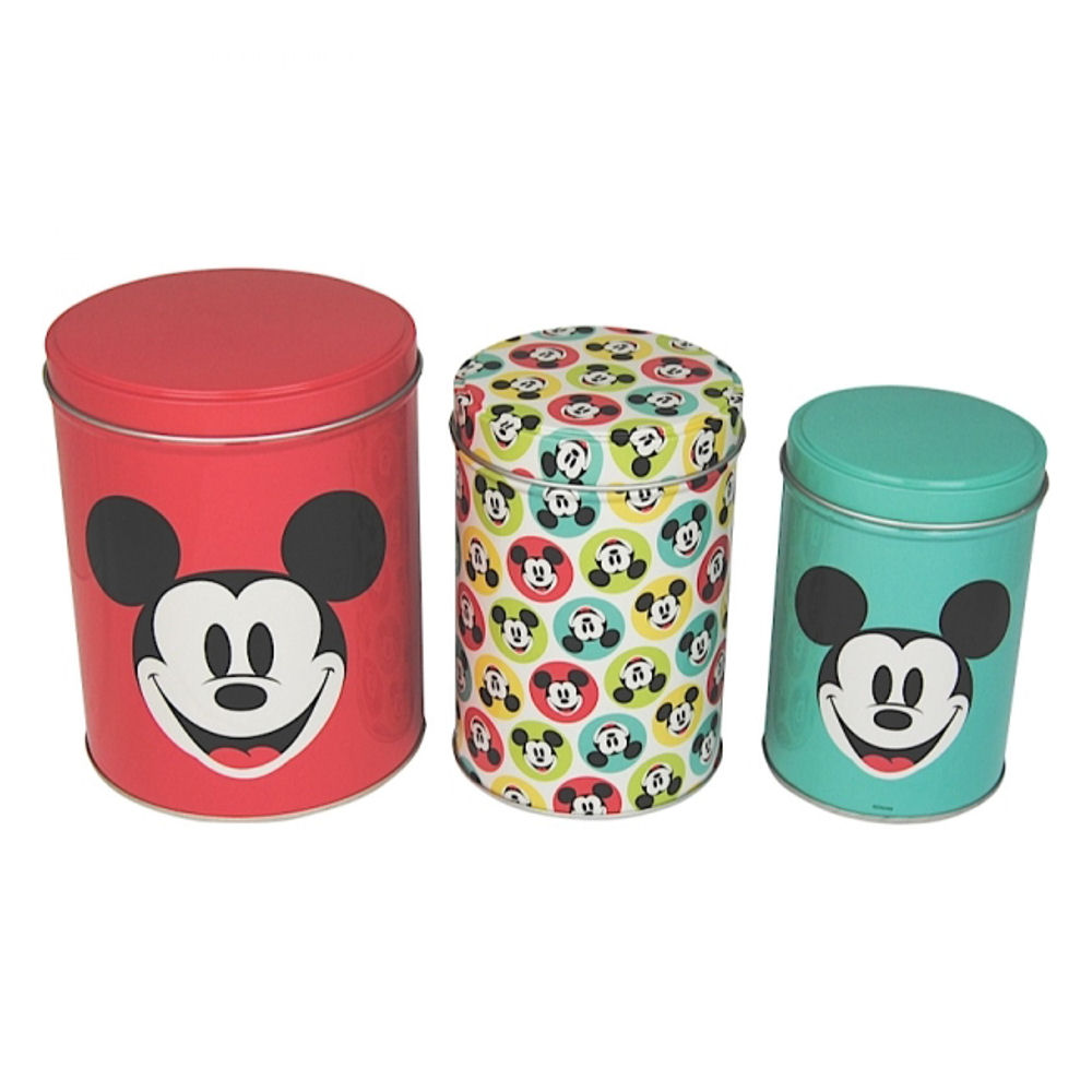 retro mickey mouse set of canisters tea coffee sugar kitchen retro mickey mouse set of canisters tea coffee sugar kitchen storage gift spots
